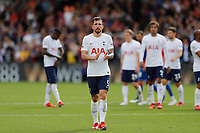 11th September 2021; Selhurst Park, Crystal Palace, London, England;  Premier League football, Crystal Palace versus Tottenham Hotspur: A disappointed Pierre-Emile Hojbjerg of Tottenham Hotspur applauding the Spurs fans after full time