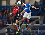 Rangers v St Johnstone....28.10.14   Scottish League Cup Quarter Final at Ibrox<br /> Brian Graham and Darren McGregor<br /> Picture by Graeme Hart.<br /> Copyright Perthshire Picture Agency<br /> Tel: 01738 623350  Mobile: 07990 594431