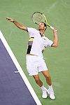 SHANGHAI, CHINA - OCTOBER 12:  Michael Llodra of France serves to David Ferrer of Spain during day two of the 2010 Shanghai Rolex Masters at the Shanghai Qi Zhong Tennis Center on October 12, 2010 in Shanghai, China.  (Photo by Victor Fraile/The Power of Sport Images) *** Local Caption *** Michael Llodra