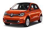 2021 Renault Twingo-Electric Vibes 5 Door Hatchback Angular Front automotive stock photos of front three quarter view