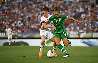 PASADENA, CALIFORNIA - August 03: Kelley O'Hara #5, Katie McCabe #11 during their international friendly and the USWNT Victory Tour match between Ireland and the United States at the Rose Bowl on August 03, 2019 in Pasadena, CA.