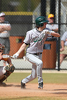 Slippery Rock Will Kengor #32 during a game vs. the Seton Hill Griffins at Lake Myrtle Field in Auburndale, Florida;  March 5, 2011.  Seton Hill defeated Slippery Rock 14-1.  Photo By Mike Janes/Four Seam Images