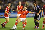(L to R) Carina Gerber (SUI), Kumi Yokoyama (JPN), .AUGUST 26, 2012 - Football / Soccer : .FIFA U-20 Women's World Cup Japan 2012, Group A .match between Japan 4-0 Switzerland .at National Stadium, Tokyo, Japan. .(Photo by Daiju Kitamura/AFLO SPORT)