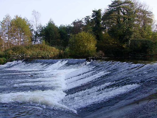 Annacotty Weir on the lower Mulkear River