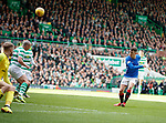 31.03.2019 Celtic v Rangers: Ryan Jack blazes over the bar