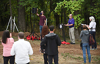 Mayor Lioneld Jordan speaks Thursday, September 10, 2020, during a groundbreaking ceremony at the Fay Jones woods for Fayetteville's cultural arts corridor project. The cultural arts corridor is planned as a series of connected outdoor public spaces throughout downtown. Voters approved a $31.6 bond issue in April 2019 to make the project happen. Check out nwaonline.com/200911Daily/ and nwadg.com/photos for a photo gallery.<br /> (NWA Democrat-Gazette/David Gottschalk)