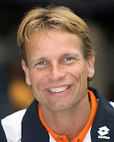 18-9-08, Netherlands, Apeldoorn, Tennis, Daviscup NL-Zuid Korea, Draw in cityhall,  Captain Jan Siemerink