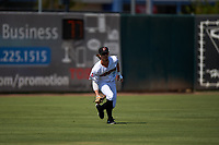 Inland Empire 66ers left fielder Jonah Todd (7) during a California League game against the Lancaster JetHawks at San Manuel Stadium on May 20, 2018 in San Bernardino, California. Inland Empire defeated Lancaster 12-2. (Zachary Lucy/Four Seam Images)