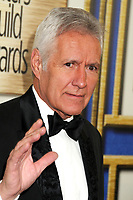 "08 November 2020 - Longtime ""Jeopardy!"" host Alex Trebek, died on Sunday at the age of 80 following a battle with pancreatic cancer. File Photo: 1 February 2014 - Los Angeles, California - Alex Trebek. 2014 Writers Guild Awards West Coast held at the JW Marriott Hotel. Photo Credit: Byron Purvis/AdMedia"