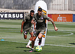 Atletico de Madrid's Thomas Lemar (l) and Vitolo Machin during training session. May 4,2021.(ALTERPHOTOS/Atletico de Madrid/Pool)