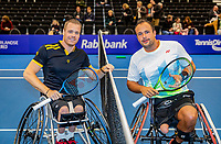 Alphen aan den Rijn, Netherlands, December 22, 2019, TV Nieuwe Sloot,  NK Tennis, Final men wheelchair single: Tom Egberink (NED) vs Maikel Scheffers (NED) (L)<br /> Photo: www.tennisimages.com/Henk Koster