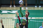 Tulane Volleyball defeats Temple in four sets to win their tenth consecutive match.