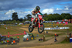 Lachlan Bourn leads 14-16 years 85/150cc race three. 2021 New Zealand Motocross Grand Prix at Old Gorge Road in Woodville , New Zealand on Saturday, 30  January 2021. Photo: Dave Lintott / lintottphoto.co.nz
