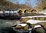 The 1873 Stone Arch Bridge historic stone arch bridge located at Kenoza Lake,  Sullivan County, New York.