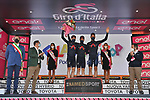 Ineos Grenadiers best team at the end of Stage 6 of the 103rd edition of the Giro d'Italia 2020 running 188km from Castrovillari to Matera, Sicily, Italy. 7th October 2020.  <br /> Picture: LaPresse/Massimo Paolone | Cyclefile<br /> <br /> All photos usage must carry mandatory copyright credit (© Cyclefile | LaPresse/Massimo Paolone)