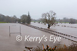 The River Flesk burst its banks in Killarney  on Tuesday morning