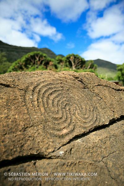 Pétroglyphes région de Thio, Nouvelle-Calédonie