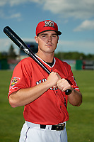 Batavia Muckdogs Nic Ready (5) poses for a photo before a NY-Penn League game against the West Virginia Black Bears on June 26, 2019 at Dwyer Stadium in Batavia, New York.  Batavia defeated West Virginia 4-2.  (Mike Janes/Four Seam Images)