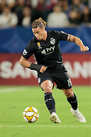 CARSON, CA - SEPTEMBER 15: Erik Hurtado #19 of Sporting Kansas City dribbles the ball during a game between Sporting Kansas City and Los Angeles Galaxy at Dignity Health Sports Complex on September 15, 2019 in Carson, California.