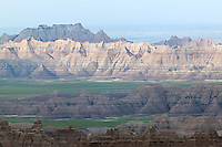 Part of the surreal landscape in Badlands National Park, Wyoming