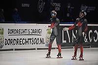 SPEEDSKATING: DORDRECHT: 06-03-2021, ISU World Short Track Speedskating Championships, Final A 1500m Men, Charles Hamelin (CAN), Maxime Laoun (CAN), ©photo Martin de Jong