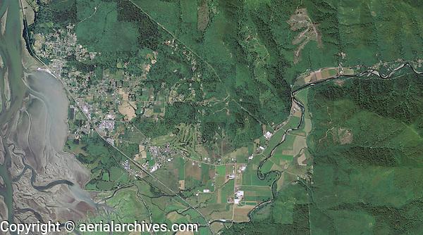 aerial photo map of the City of Tillamook, Oregon