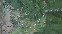 aerial photo map of the City of Tillamook, Oregon