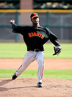 Luis Perdomo  - San Francisco Giants - 2009 spring training.Photo by:  Bill Mitchell/Four Seam Images