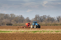 9.3.2021 Drilling Spring Barley in Lincolnshire <br /> ©Tim Scrivener Photographer 07850 303986<br />      ....Covering Agriculture In The UK....
