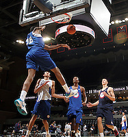 Nick Faust at the NBPA Top100 camp at the John Paul Jones Arena Charlottesville, VA. Visit www.nbpatop100.blogspot.com for more photos. (Photo © Andrew Shurtleff)