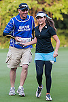 Elizabeth Elmassian of Australia walks with her caddie during the Hyundai China Ladies Open 2014 at World Cup Course in Mission Hills Shenzhen on December 13 2014, in Shenzhen, China. Photo by Xaume Olleros / Power Sport Images