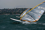 RS:X windsurfing Olympic class at the Sydney International Regatta 2006..Held annually the Sydney International Regatta (SIRs)  has been categorized by ISAF as a Grade 1 event of the Laser, Laser Radial, Finn, 470, 49er and RS:X. A Grade 2 event for the Ynglings, however this year will include the Yngling Australian Championships..Other classes invited include the Moth, 420, 29er Laser 4.7 and the A Class Catamaran. This year the A Class Catamaran is holding their World Championships at Belmont, NSW and the SIRs will be a Pre Worlds regatta for the Class.  Entries are restricted to 25 and A Class competitors are invited to enter through their association.
