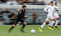 LOS ANGELES, CA - MARCH 01: Diego Rossi #9 of the LAFC moves with the ball during a game between Inter Miami CF and Los Angeles FC at Banc of California Stadium on March 01, 2020 in Los Angeles, California.
