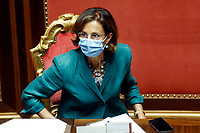 The Minister of Justice Marta Cartabia during the information at the Senate about the violence in the prison of Santa Maria Capua Vetere<br /> Rome (Italy), July 21st 2021<br /> Photo Samantha Zucchi Insidefoto