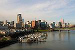 Cityscape with Marina, Portland, Oregon