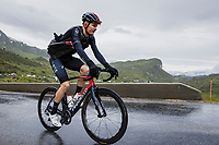 Dylan Van Baarle (NED/Ineos Grenadiers) up the Cormet de Roselend<br /> <br /> Stage 9 from Cluses to Tignes (144.9km)<br /> 108th Tour de France 2021 (2.UWT)<br /> <br /> ©kramon