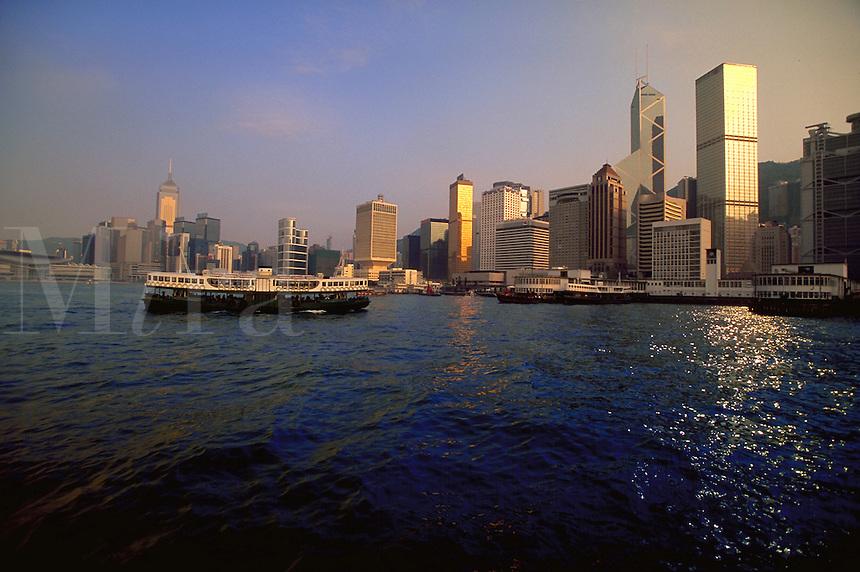 Star Ferry carries passengers between Kowloon and Hong Kong Island