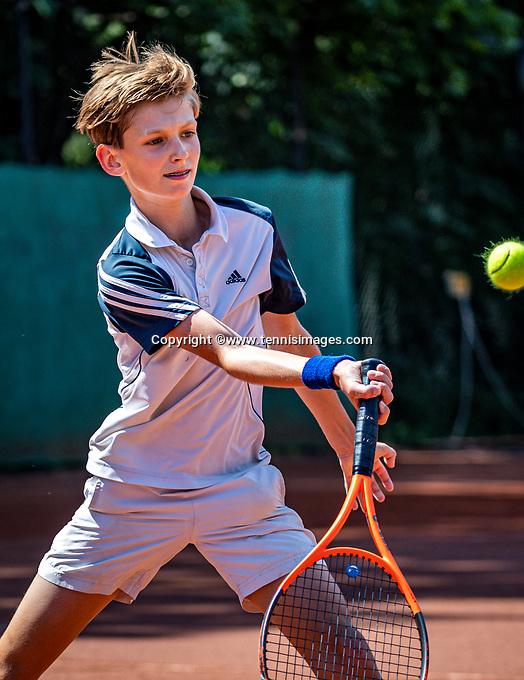 Hilversum, Netherlands, Juli 29, 2019, Tulip Tennis center, National Junior Tennis Championships 12 and 14 years, NJK, Bas Bouwman (NED)<br /> Photo: Tennisimages/Henk Koster