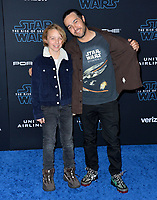"LOS ANGELES, USA. December 17, 2019: Pete Wentz & Bronx Wentz at the world premiere of ""Star Wars: The Rise of Skywalker"" at the El Capitan Theatre.<br /> Picture: Paul Smith/Featureflash"