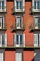 Building detail, Madrid, Spain