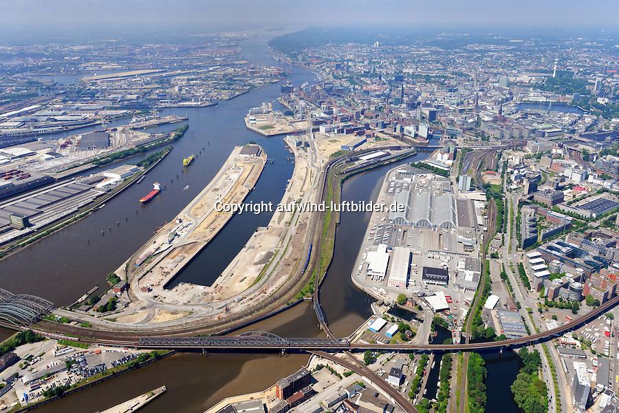 Hamburg Hafencity Uebersicht Ostteil: EUROPA, DEUTSCHLAND, HAMBURG, (EUROPE, GERMANY), 09.06.2013 Hamburg Hafencity Uebersicht Ostteil