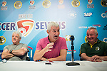 (L-R) Kevin Keegan, former English football player, Terry McDermott, former Liverpool football player, and Steve Dale, chairman of Wallsend Boys Club, attend the press conference for the HKFC Citi Soccer Sevens Hong Kong 2017 at the Hong Kong Football Club on 07 February 2017 in Hong Kong, China. Photo by Victor Fraile / Power Sport Images