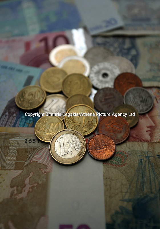 A mixture of old drachma coins and notes along with euros<br /> Re: The forthcoming elections in Greece has severely de-stabilised the currency and stock markets in Europe and the rest of the world.