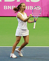 Aleksandra Krunic  Fed Cup Serbia vs Canada, World group II, first round, Novi Sad, Serbia, SPENS Sports Center, Sunday, February 06, 2011. (photo: Srdjan Stevanovic)(credit image & photo: Pedja Milosavljevic / +381 64 1260 959 / thepedja@gmail.com )