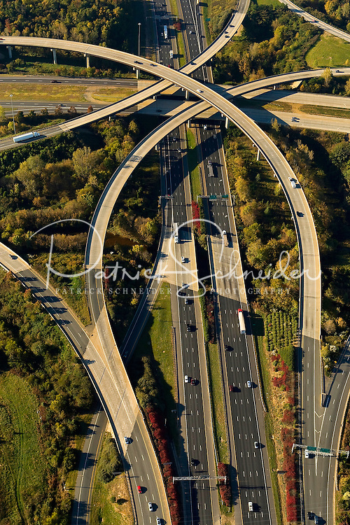 Bridge at Interstate 77 and Interstate 485 in Charlotte, North Carolina.