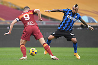 Arturo Vidal of Inter and Edin Dzeko of Roma  during the Serie A football match between AS Roma and FC Internazionale at Olimpico stadium in Roma (Italy), January 10th, 2021. Photo Andrea Staccioli / Insidefoto