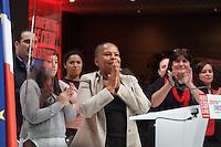 Christiane Taubira investiture de BenoÓt Hamon a la presidentielle du Parti Socialiste (PS) a la mutualitÈ de Paris, le dimanche 5 fÈvrier 2017