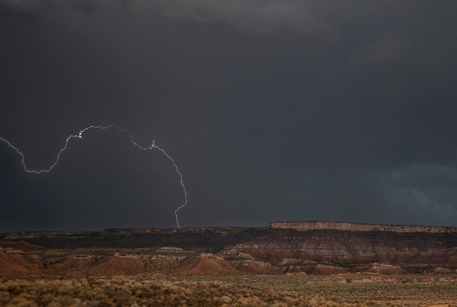 Monsoonal storms ravage the area around Zion National Park, Utah
