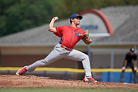 Williamsport Crosscutters starting pitcher Julian Garcia (24) delivers a pitch during the first game of a doubleheader against the Batavia Muckdogs on August 20, 2017 at Dwyer Stadium in Batavia, New York.  Batavia defeated Williamsport 6-5.  (Mike Janes/Four Seam Images)