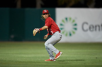Palm Beach Cardinals shortstop Kramer Robertson (3) during a game against the Florida Fire Frogs on May 1, 2018 at Osceola County Stadium in Kissimmee, Florida.  Florida defeated Palm Beach 3-2.  (Mike Janes/Four Seam Images)